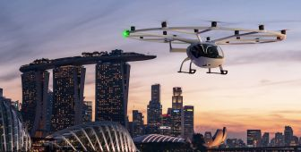 Volocopter als Flugtaxi in Singapur